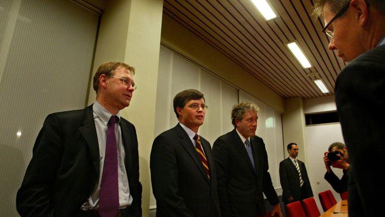 Kabinet, werkgevers en werknemers kwamen in 2004 bijeen, onder andere om afspraken te maken over de vut. Beeld Inge van Mill / ANP