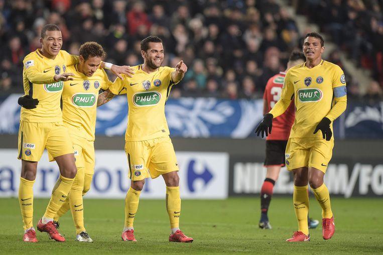 PSG-feestje in Rennes.