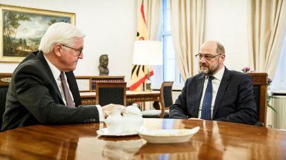 Duitse president toetst bij SPD-voorzitter Schulz mogelijkheden af van grote coalitie