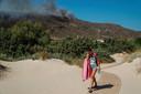Op het Griekse eiland Elafonissos woedt een brand. Op 10 augustus werd uit voorzorg een camping geëvacueerd.