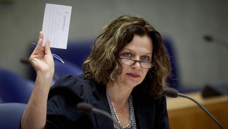 De verloskundigen willen laten zien wat er gebeurt als de plannen van minister Edith Schippers doorgaan. Beeld anp