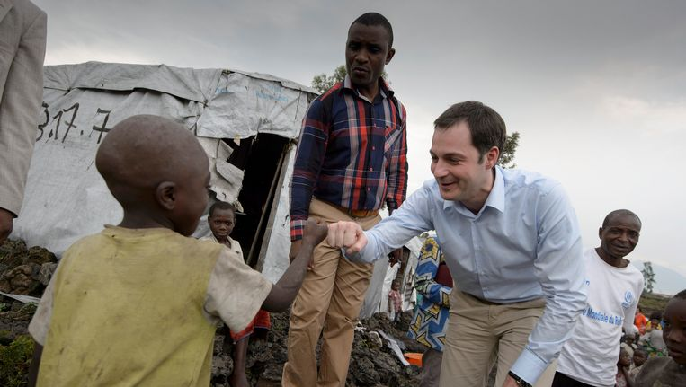 Minister van Ontwikkelingssamenwerking Alexander De Croo (Open Vld) op bezoek in Congo in februari dit jaar.