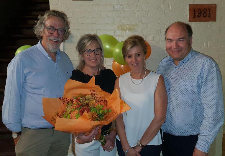 CDE-Vlim.be met Staf Willemsens, voorzitter Isabel Druyts, Ingrid Van Genechten en lijsttrekker Bart Craane.