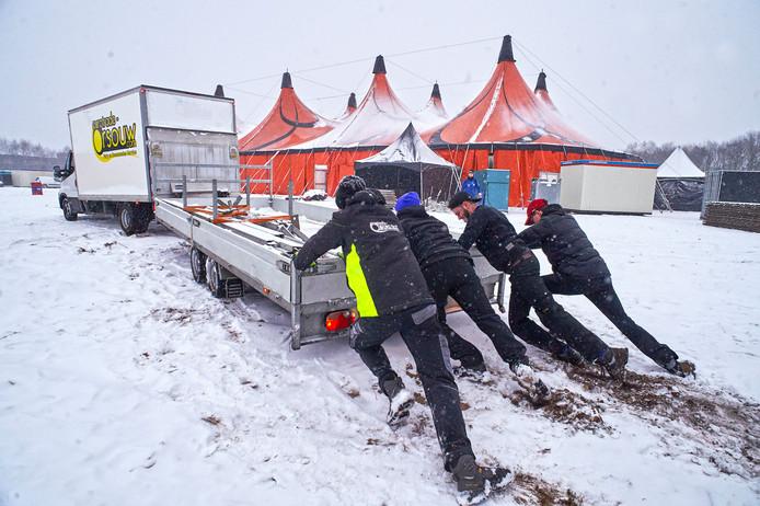 Vorstival in de sneeuw op Vorstengrafdonk. Dat is verleden tijd.