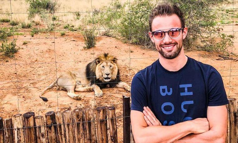 Campenaerts in Namibië.