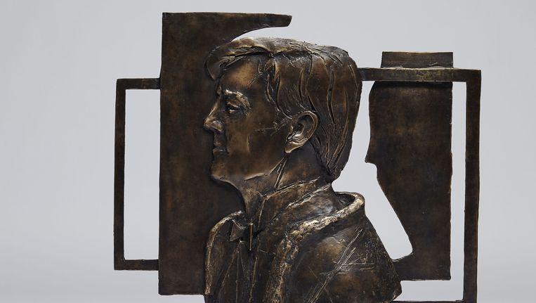 Koning Willem-Alexander door Eric Claus, 2015. Brons, 55 x 57 cm. Beeld Studio Johan Nieuwehuize