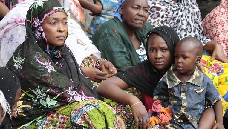 Vluchtelingen in de moskee van de hoofdstad van de Centraal Afrikaanse Republiek, Bangui Beeld epa