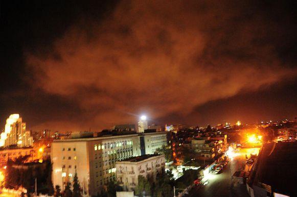 Beeld van de Syrische luchtdefensiesystemen dat verspreid werd bij de berichten.