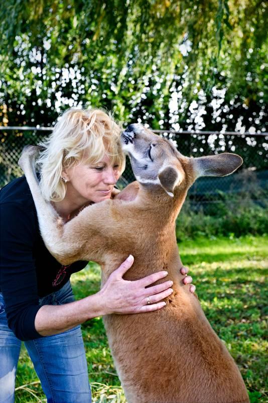 Op een oude manege in Elst woont Helma van Dijk met haar geliefde dieren: twintig kangoeroes en walibi's. Bijzonder, inderdaad - en dat is precies wat ze er zo interessant aan vindt. ,,Het is een uitdaging om voor zulke dieren te zorgen.'' Kangoeroes zijn lieve dieren, zegt Van Dijk, die werkt als buschauffeur, en al twintig jaar tussen de dieren leeft. ,,Ze spelen een grote rol in mijn leven.''