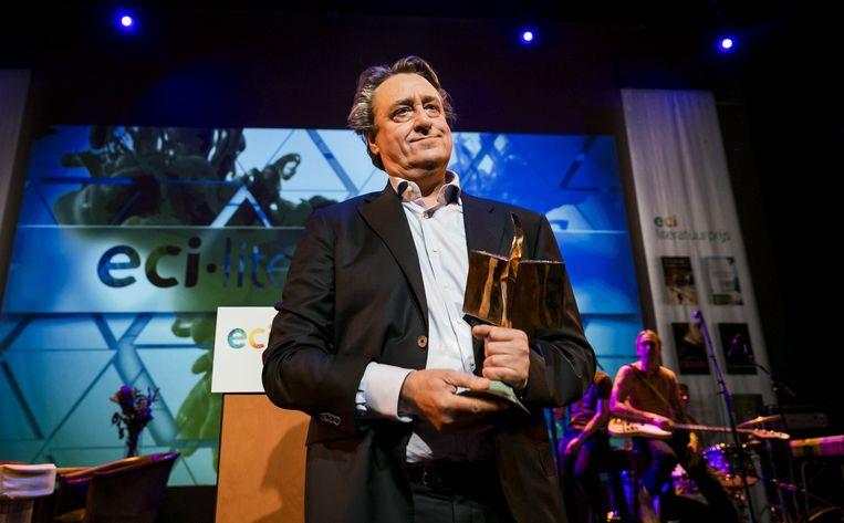 Martin Michael Driessen won vorig jaar de ECI-literatuurprijs met de novellenbundel 'Rivieren'. Beeld ANP