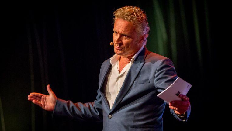 Erland Galjaard tijdens de perspresentatie van RTL. Beeld null