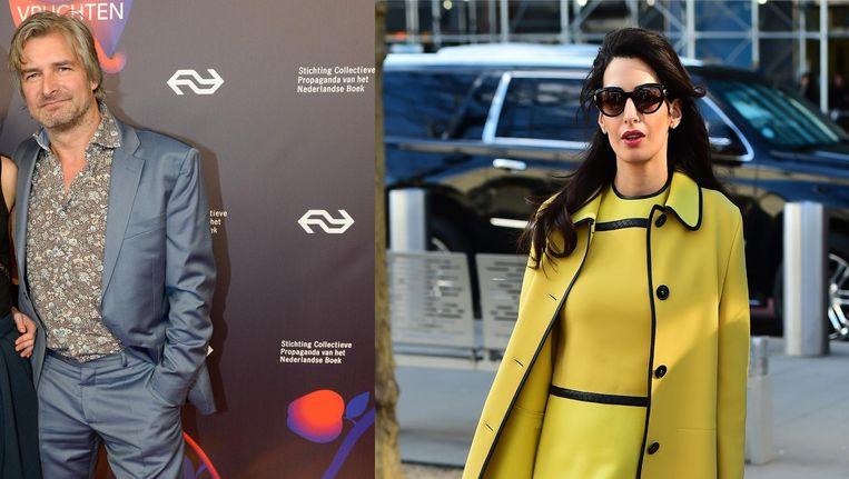 Victor Reinier en Amal Clooney Beeld null