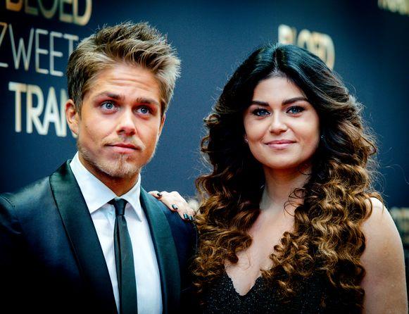 André en Roxeanne Hazes enkele jaren geleden.
