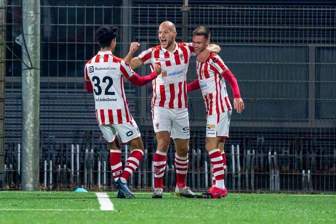 OSS, Netherlands, 05-01-2021, football, , Keuken Kampioen Divisie, season 2020 / 2021, Top Oss player Jan Lammers celebrating the goal during the match Top Oss - Jong Ajax
