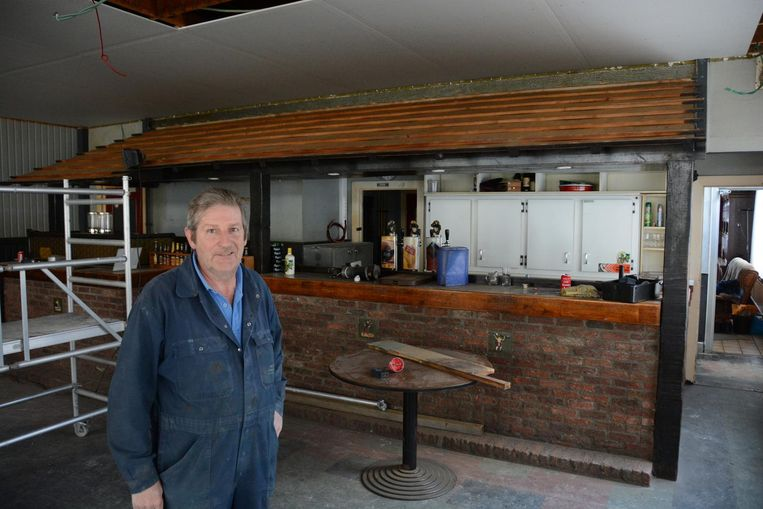 André Buyl doet renovatiewerken, maar aan het interieur verandert niets.