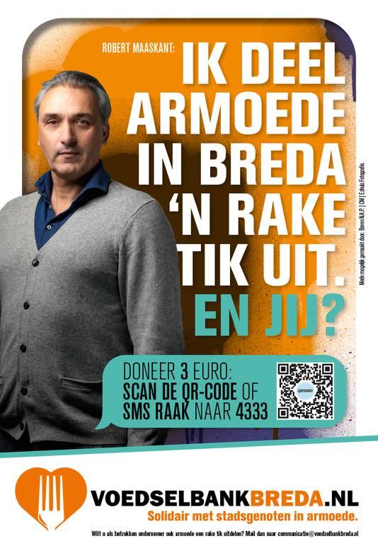 Campagne voedselbank Breda, met Robert Maaskant.