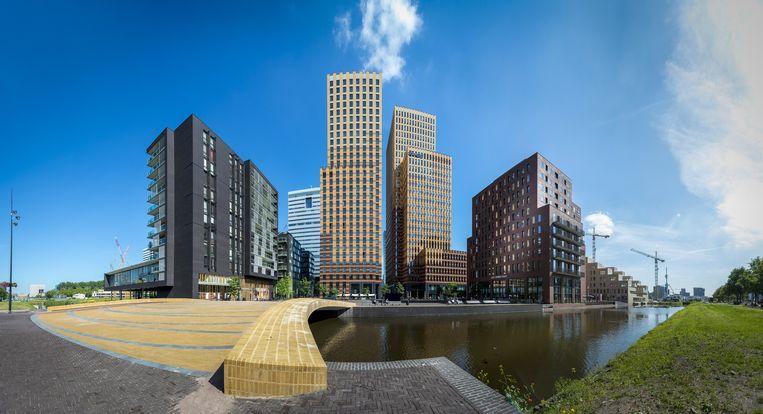 De Amsterdamse Zuidas, waar veel multinationals brievenbusfirma's vestigen. Beeld ANP