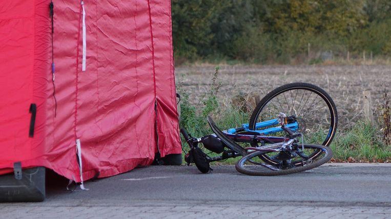 De fiets van het slachtoffer