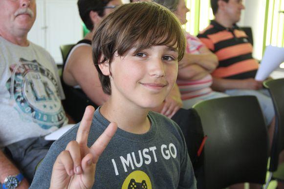 De 11-jarige Wout Van Bever kwam pleiten voor de invoering van 3D-zebrapaden.