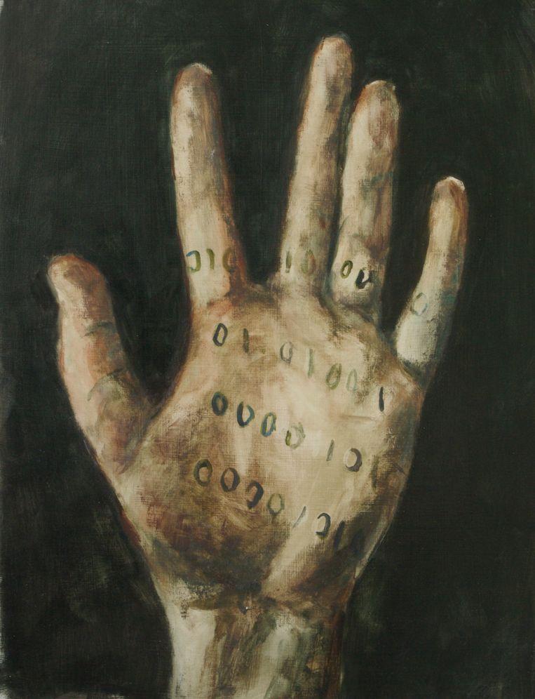 Archimedes hand van Jasper Hagenaar. Beeld null
