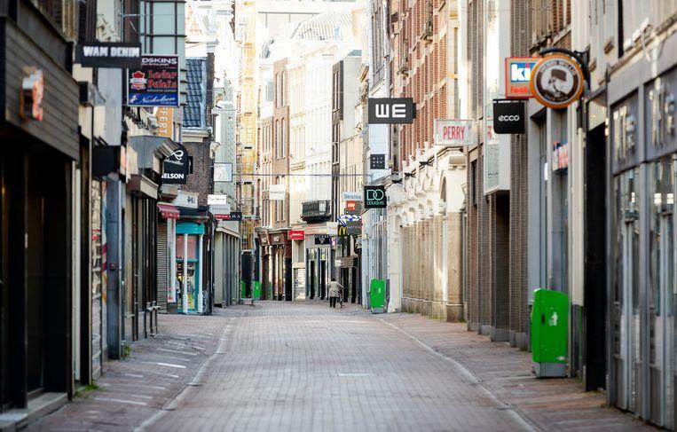 Gesloten winkels in de Kalverstraat. Beeld ANP