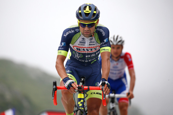 Marco Minnaard tijdens de Tour de France vorig jaar.