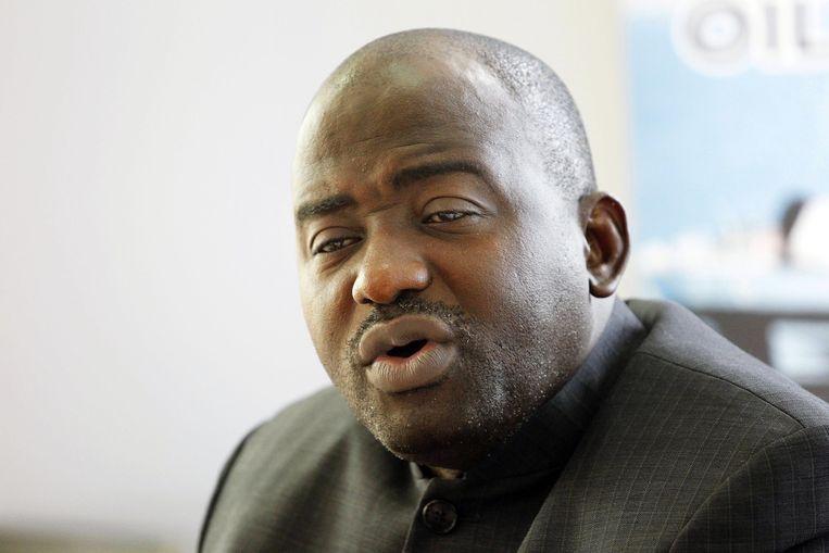 Musa Hassan Bility, voorzitter van de Liberiaanse voetbalbond, kwam niet door de integriteitscontrole heen. Beeld epa