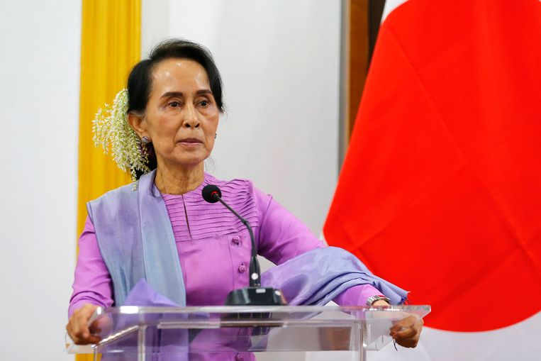Aung San Suu Kyi, regeringsleider van Myanmar.