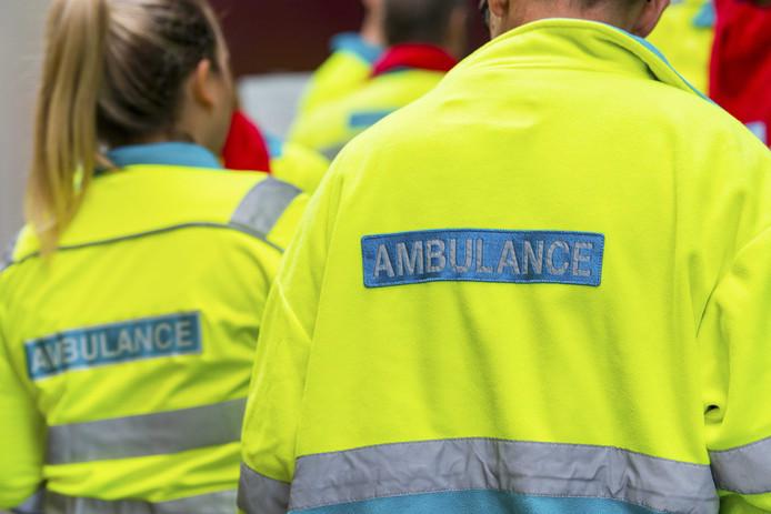 Ambulancemedewerkers leggen om de beurt het werk neer.