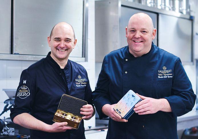 Chocolatiers Nick Wauters en Wim Vyverman.