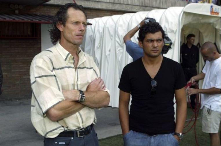 Preud'homme als technisch directeur met sterspeler Sergio Conceiçao in 2004.
