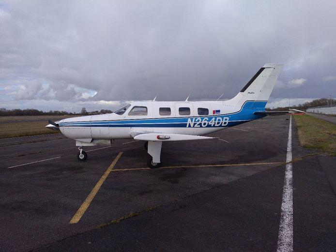 Het vliegtuig waarin Sala zat.