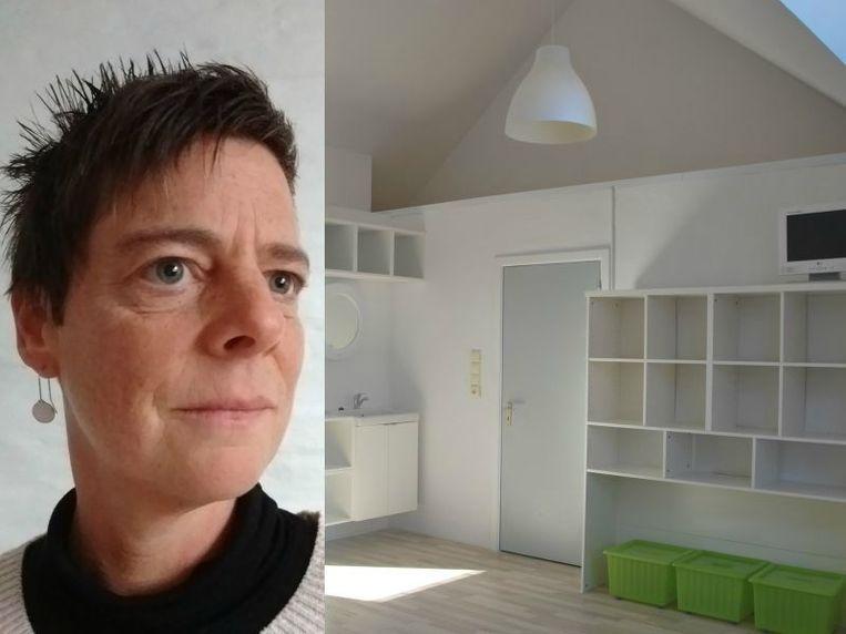 Ellen toverde haar appartement in Kessel-Lo voor maar 27.000 euro om in een duplex.