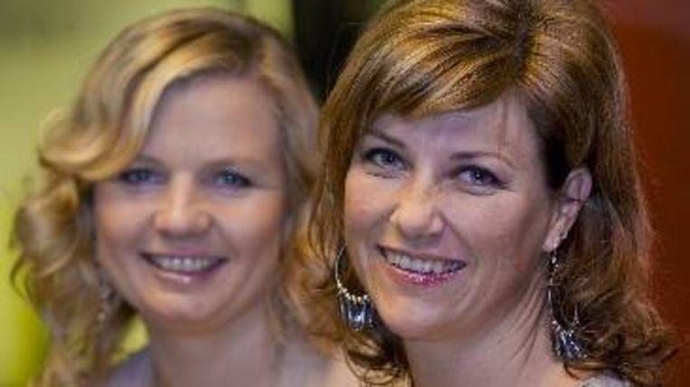 MÃ¿rtha Louise (rechts) en Elisabeth Samnoy. ( ANP) Beeld