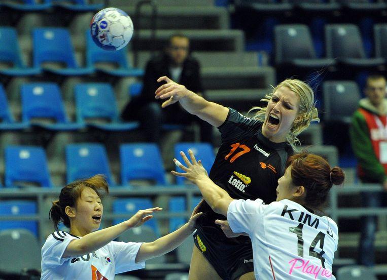 Nycke Groot is de beste speelster. Ook hier is de speelsters van Zuid-Korea de baas. Beeld ANP