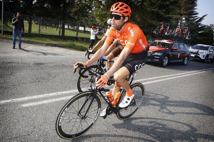 Ten Dam in zijn laatste wedstrijd: de Ronde van Lombardije.