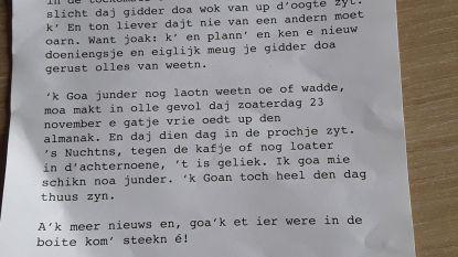 """Inwoners krijgen mysterieuze brief in de bus voor opening nieuw overheidsgebouw: """"Ken e nieuw doeningsje"""""""