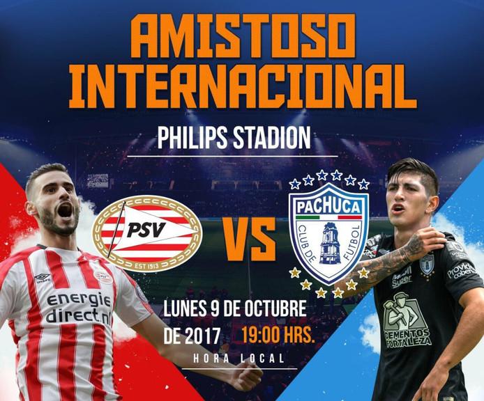 De wedstrijd tussen PSV en Pachuca wordt een benefietduel voor de slachtoffers van de Mexicaanse aardbeving van vorige maand.