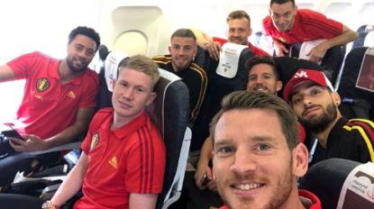 IN BEELD: Rode Duivels gaan met karrenvracht aan selfies naar Rusland en dat hebben we met z'n allen geweten