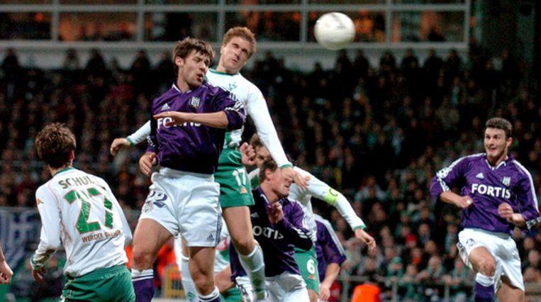 Oleg Iachtchouk zorgt voor de eerreder in de 5-1 tegen Werder Bremen.