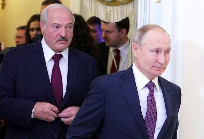 Loekasjenko wil per se president van Wit-Rusland blijven. Vóór hem de Russische president Poetin.