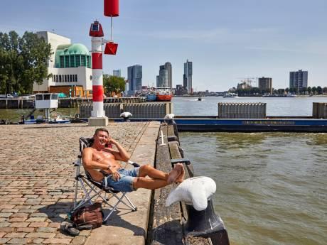 Een verkoelende duik in de Nieuwe Maas, mag dat?