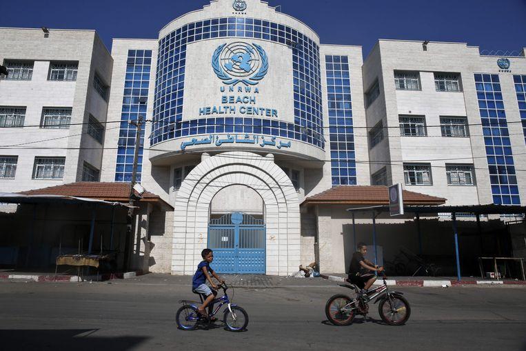 Een gezondheidscentrum van de UNRWA in Gaza-stad.  Beeld AFP