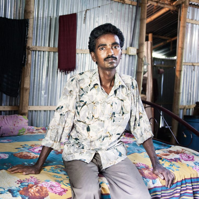 Sufikul Islam was werkzaam in de Tung Hai Fabriek in Dhaka Beeld null