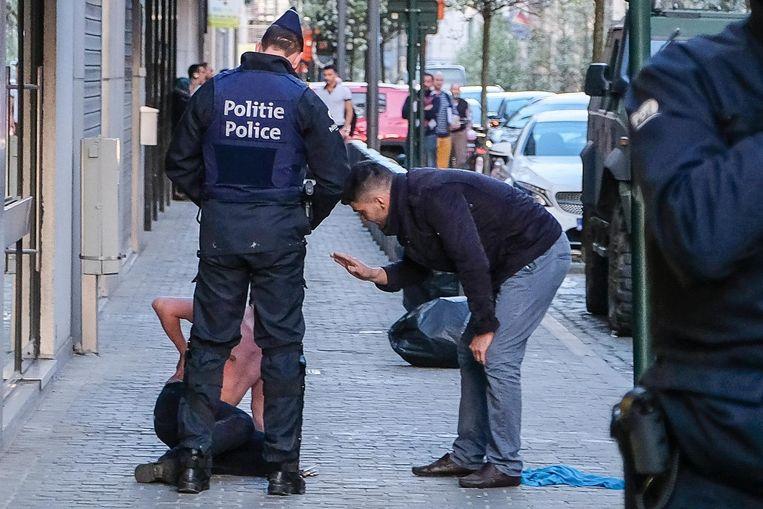 Zes personen raakten donderdag gewond tijdens de rellen in Brussel. Vijf daders werden opgepakt.