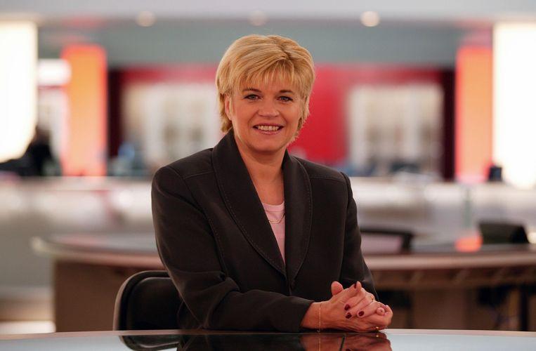 Ingrid als nieuwsanker op VTM.