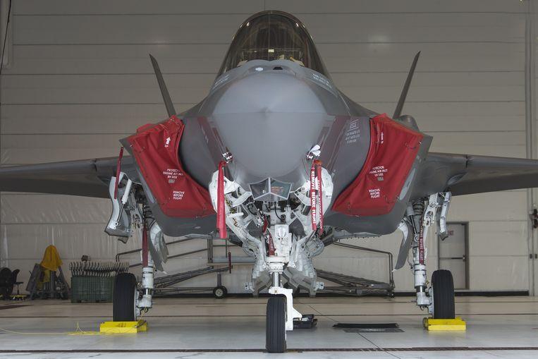De Joint Strike Fighter F-002 is een van de twee test F-35A straaljagers van de Koninklijke Luchtmacht op Eglin Air Force Base in Florida. Beeld anp