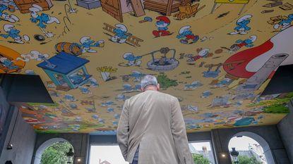 Smurfen krijgen eigen 'plafondschildering' cadeau