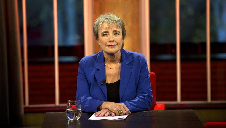 Clairy Polak in 2011 als presentatrice van De waan van de dag. Beeld ANP
