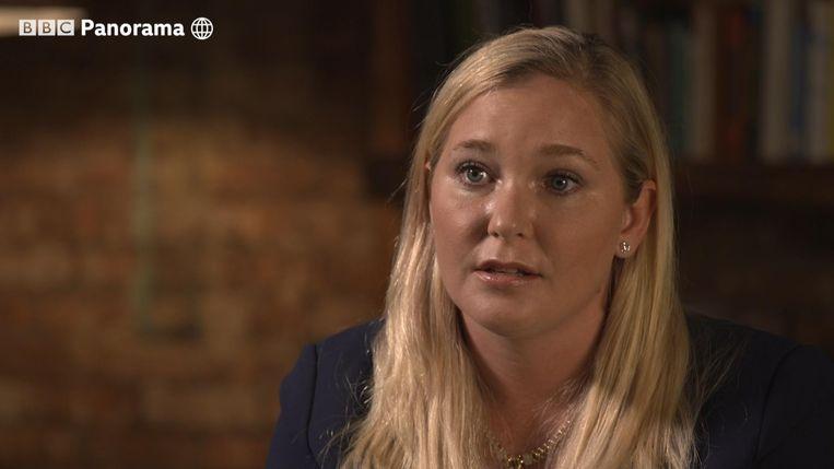 Virginia Giuffre in een still van het interview met BBC's Panorama. Beeld AFP